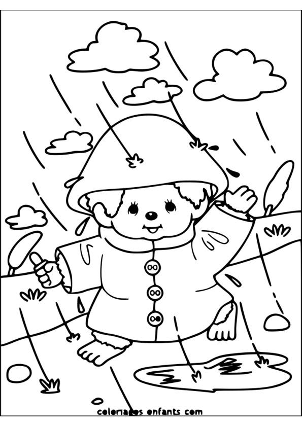coloriage saison d'hiver