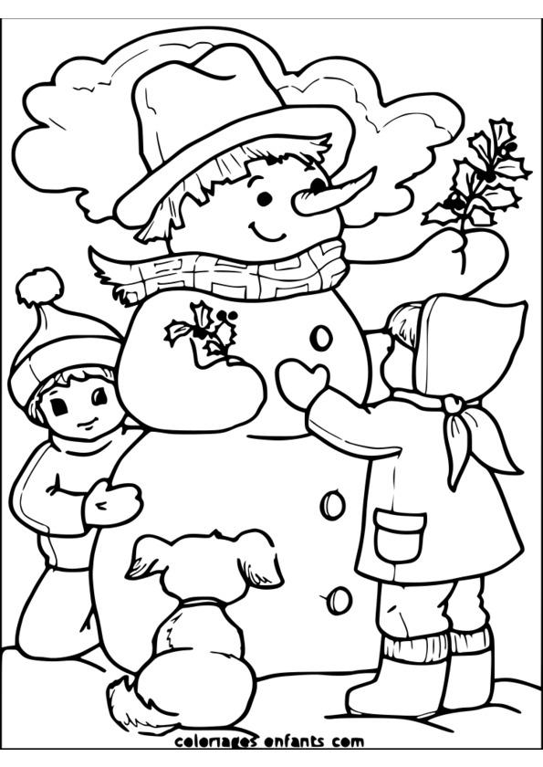 coloriage saison maternelle
