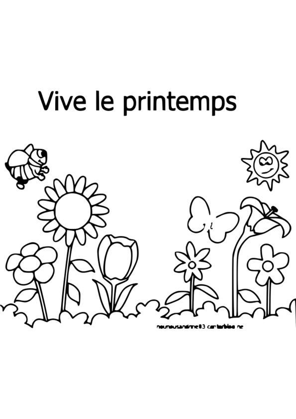 Coloriage Saison Printemps.Coloriage Saison Printemps