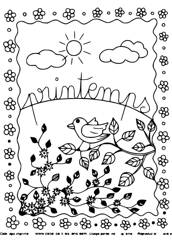 163 dessins de coloriage saisons imprimer - Image du printemps a colorier ...