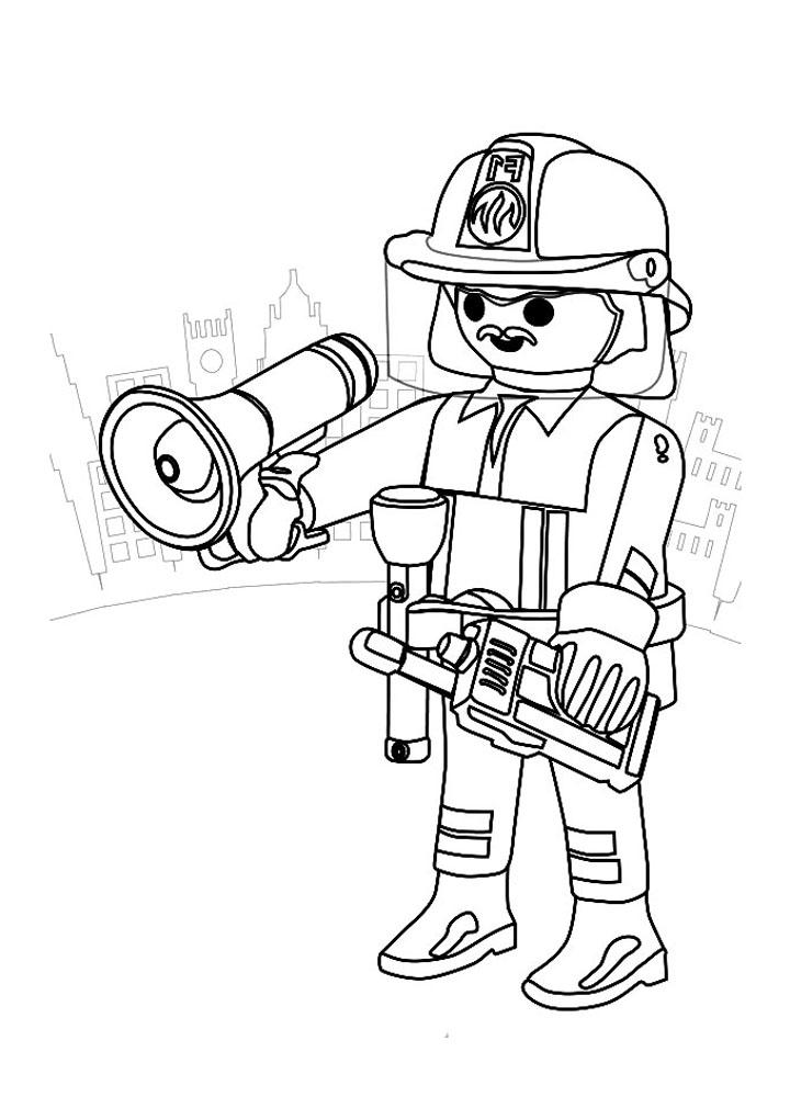 93 dessins de coloriage Sam Le Pompier En Ligne à imprimer