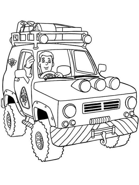56 dessins de coloriage sam le pompier piwi imprimer - Dessin de sam le pompier ...