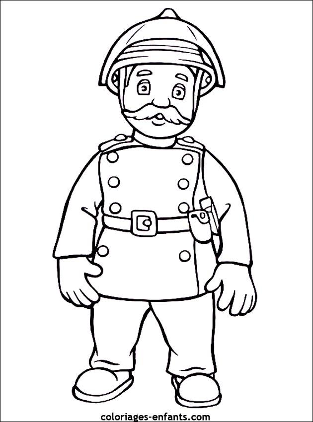 dessin à colorier sam le pompiere
