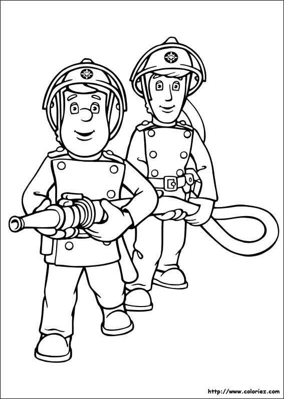 coloriage sam le pompier nicolas