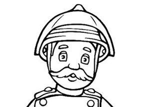 vrac dessin à colorier sam le pompier