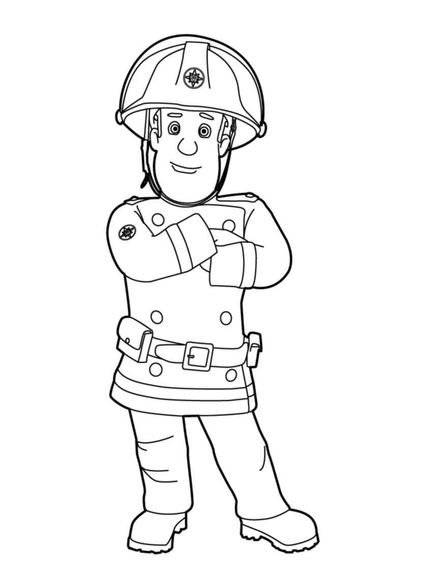 110 dessins de coloriage sam le pompier imprimer - Dessin pompier a imprimer ...