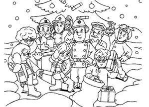 Coloriage sam le pompier imprimer - Sam le pompier personnages ...