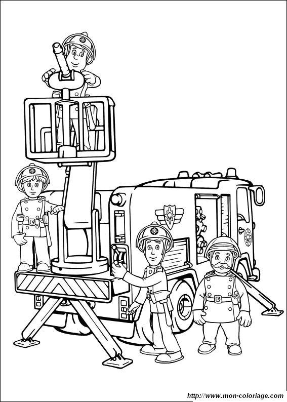 dessin gratuit sam le pompier