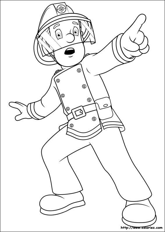 coloriage de sam le pompier en ligne