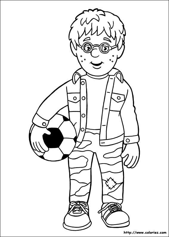 jeux dessin à colorier sam le pompier