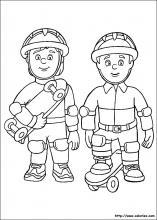coloriage sam le pompier imprimer