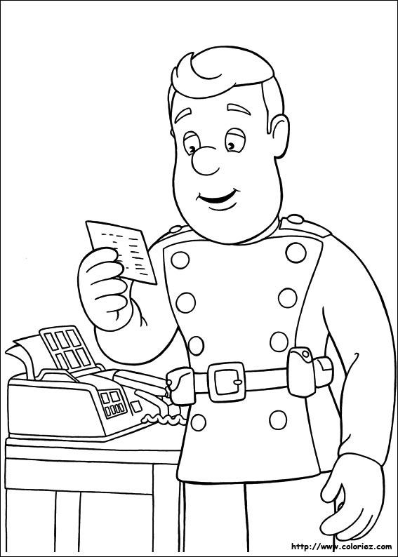 dessin sam le pompier en ligne