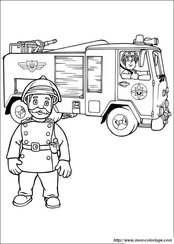 Livre dessin colorier sam le pompier - Bateau sam le pompier ...