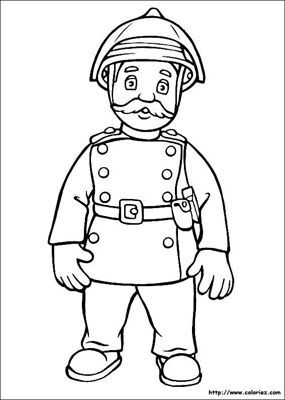 mon coloriage à dessiner sam le pompier