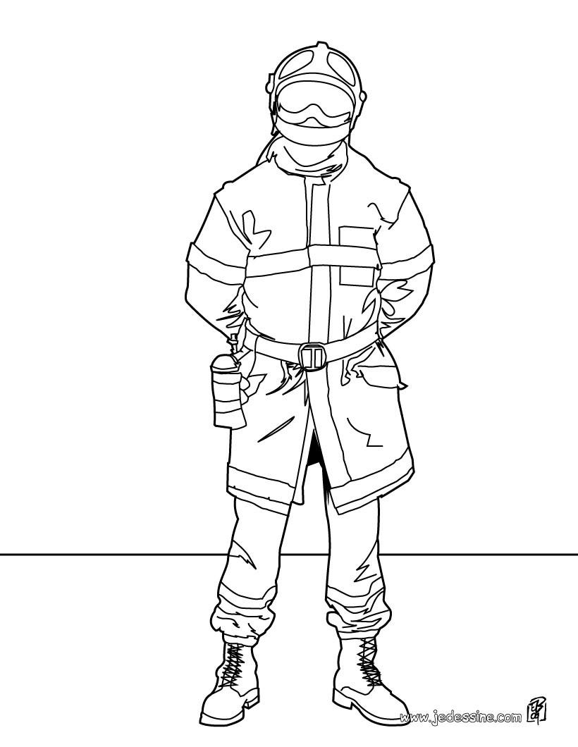 dessin à colorier sam le pompier nicolas