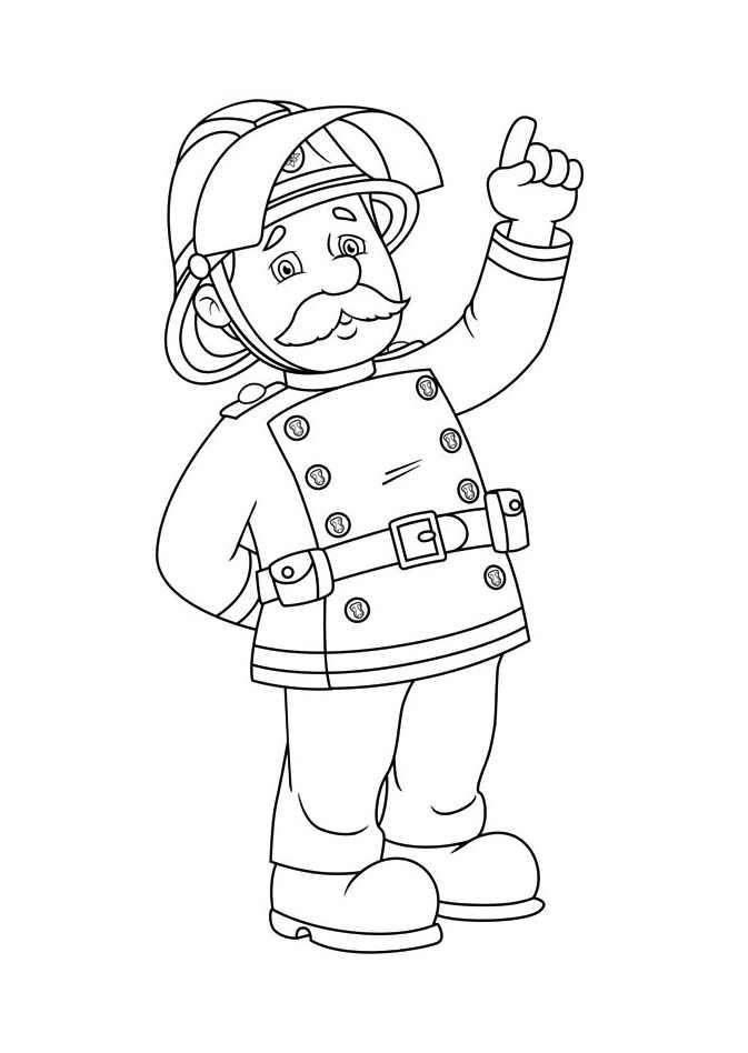 Coloriage dessiner bateau sam le pompier - Bateau sam le pompier ...