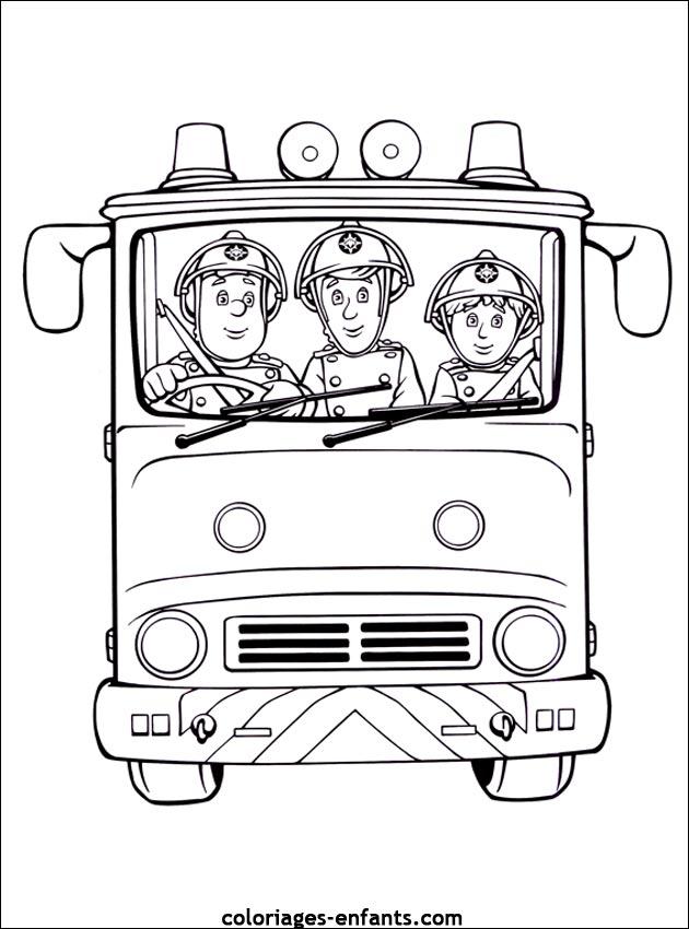 livre coloriage � dessiner sam le pompier