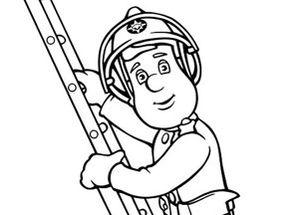 Coloriage sam le pompier gratuit - Coloriage de sam le pompier ...