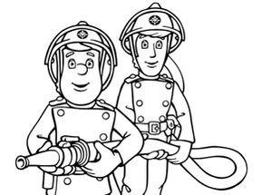 www.coloriage à dessiner sam le pompier