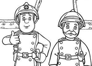 Coloriage de sam le pompier de noel - Sam le pompier noel ...