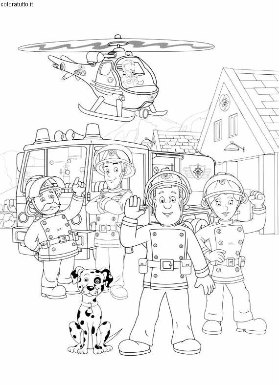 dessin sam le pompiere