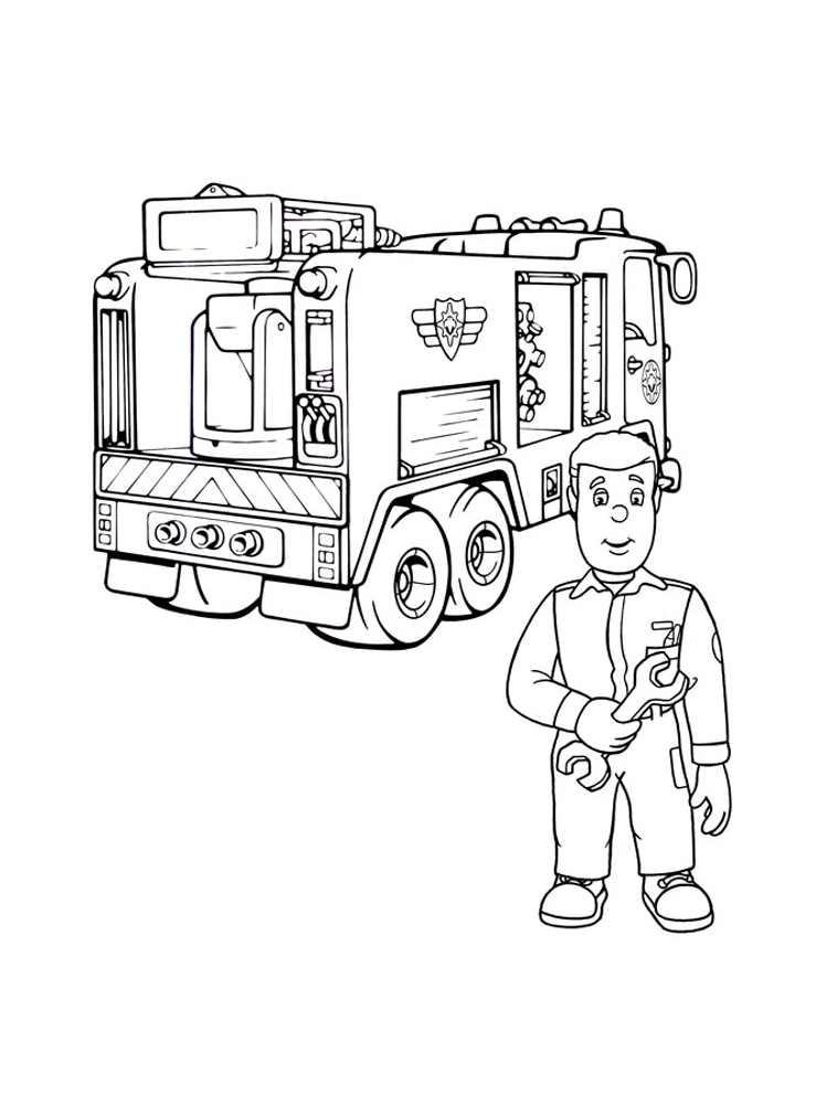 dessin de sam le pompier sur l'ordinateur