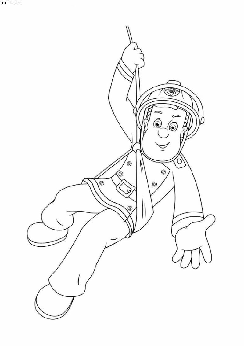 dessin sam le pompier noel