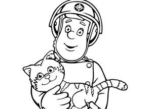 coloriage sam le pompier en ligne