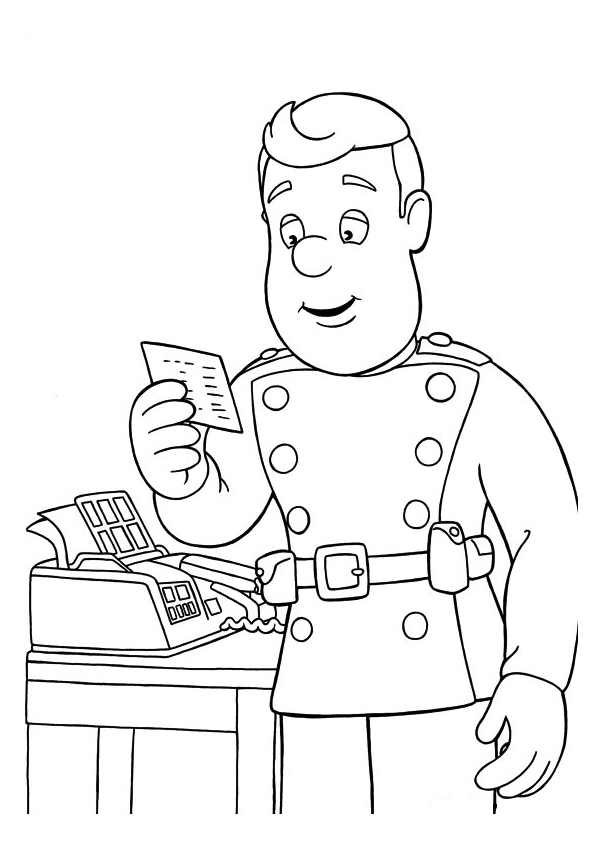 Livre dessin colorier sam le pompier - Coloriage de sam le pompier ...