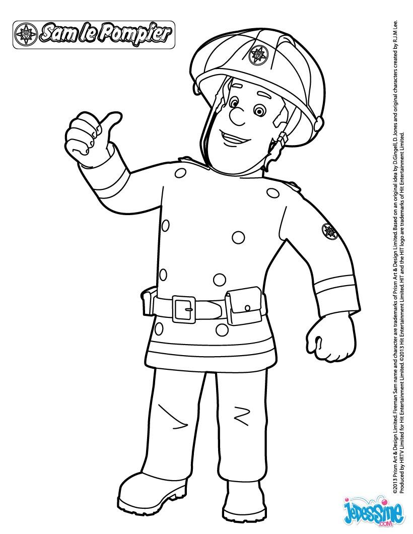 Coloriage Magique Camion De Pompier.Dessin A Colorier Sam Le Pompier Helicoptere