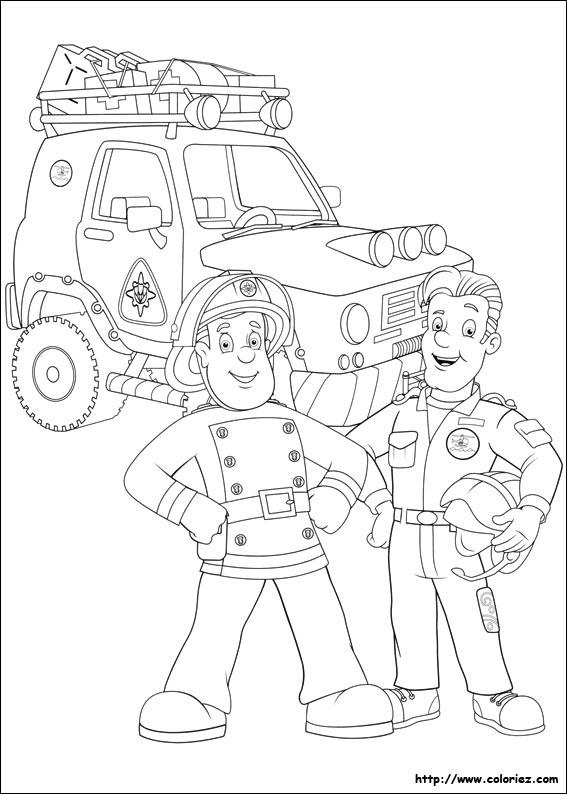 jeux de coloriage de sam le pompier gratuit