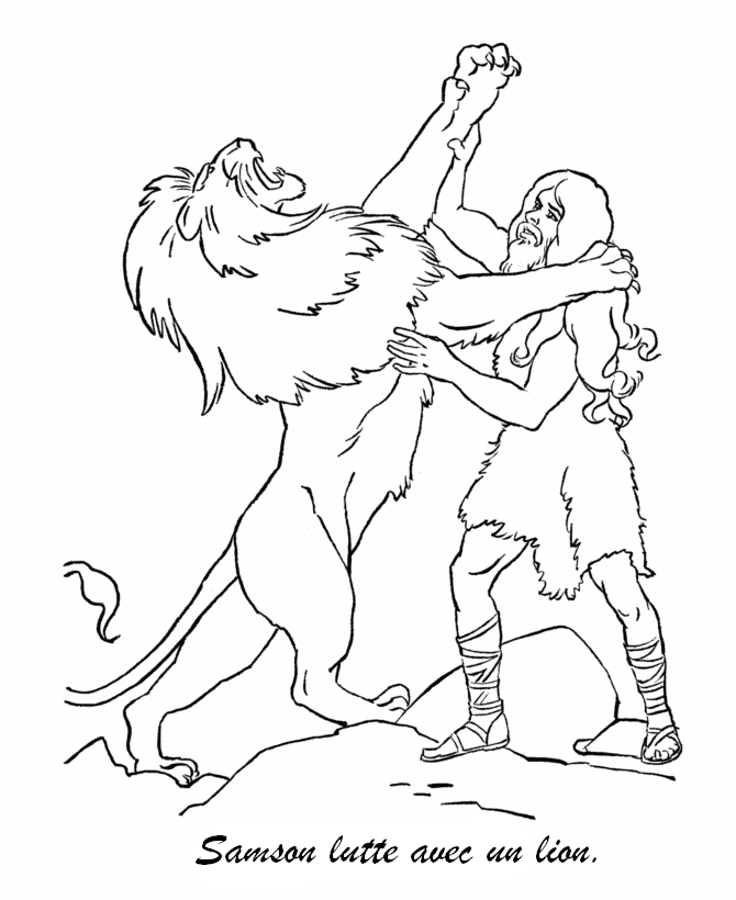 coloriage samson et n�on