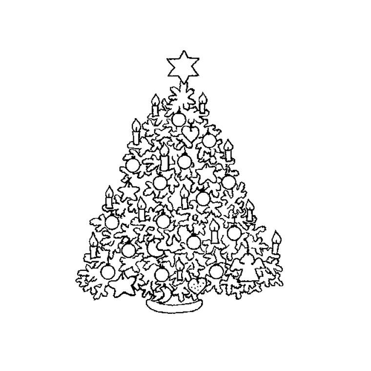 dessin à colorier sapin de noel à imprimer gratuit