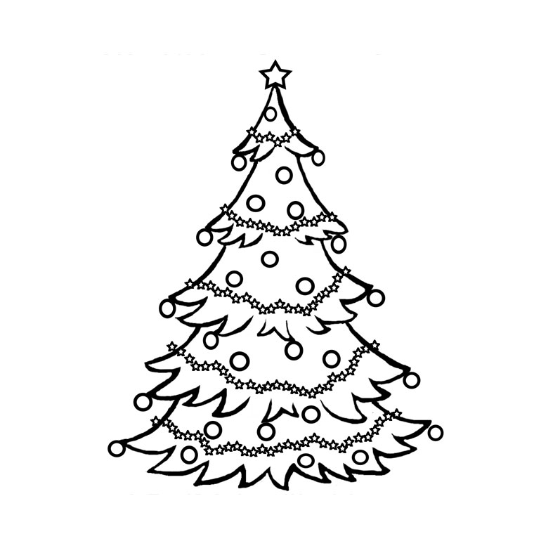 dessin à colorier sapin en ligne gratuit