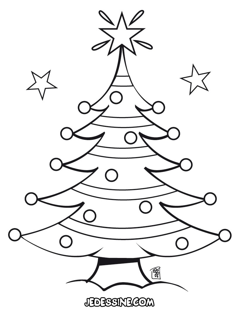 coloriage sapin format a4