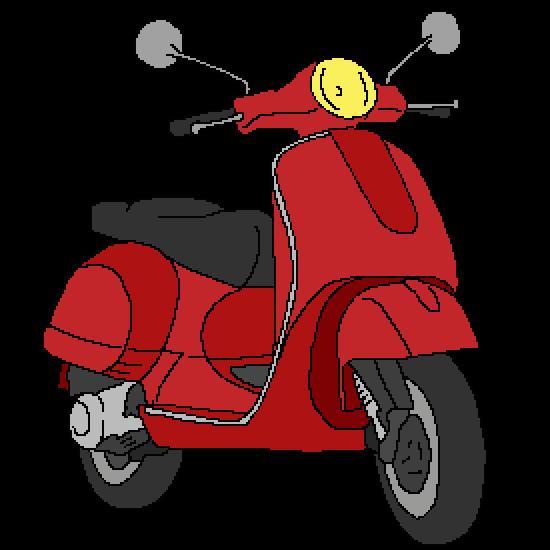 dessin scooter des mers