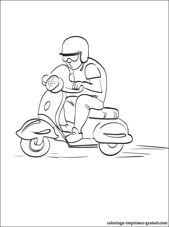 dessin de scooter mbk