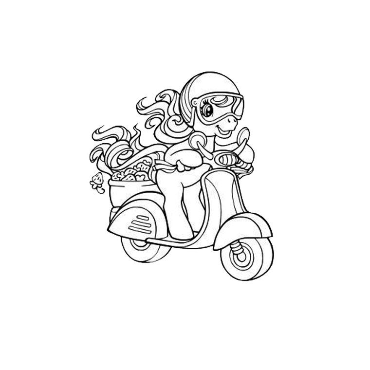 dessin à colorier scooter tuning
