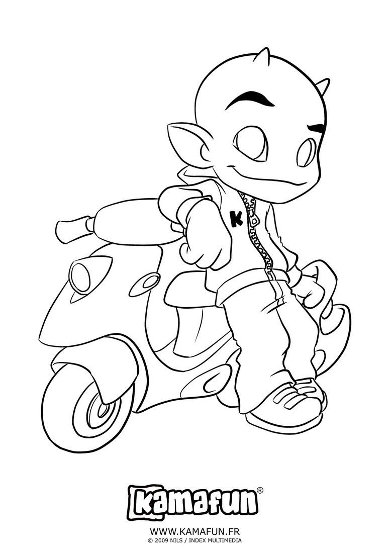 dessin à colorier a imprimer scooter des mers