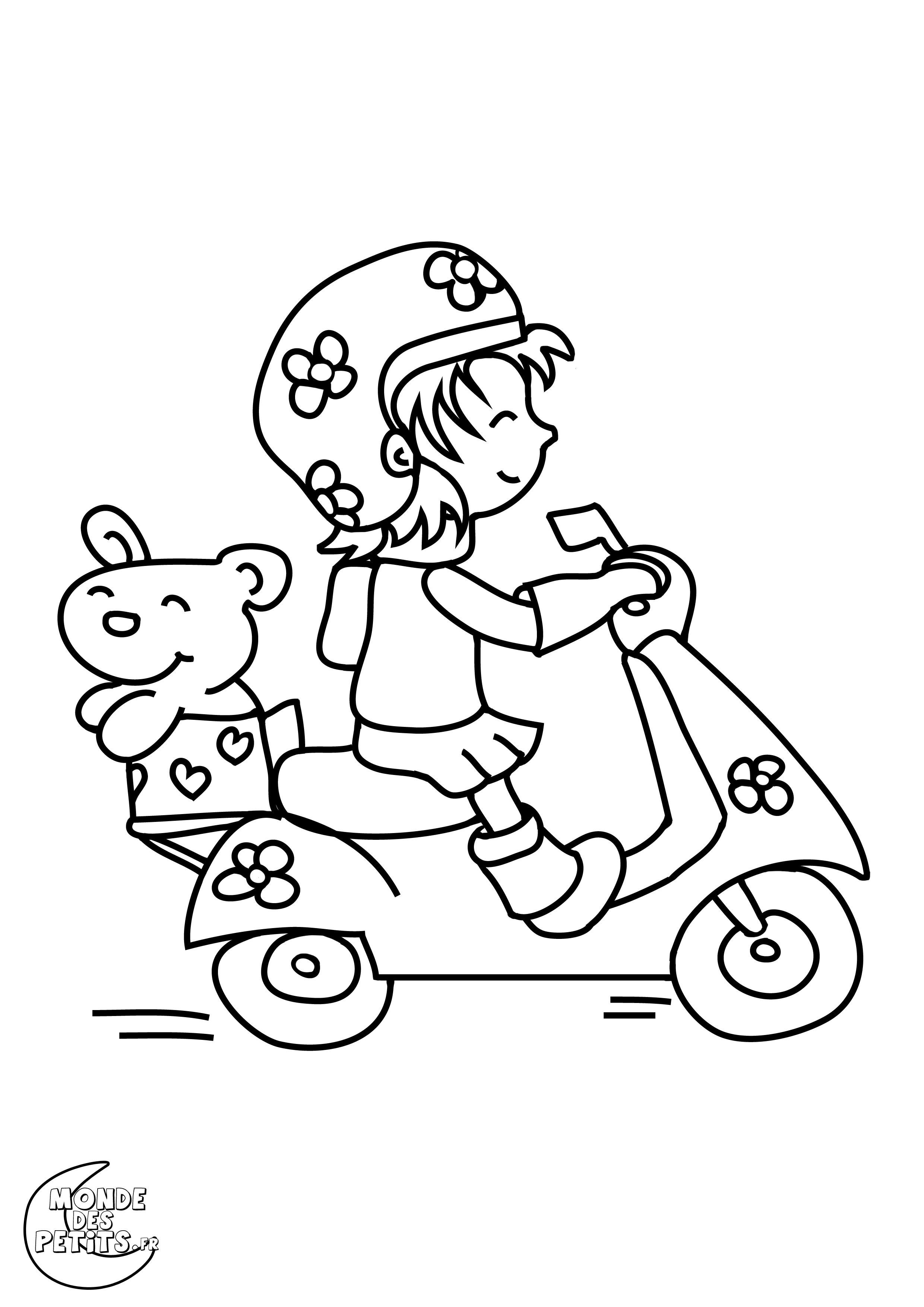 coloriage scooter à imprimer
