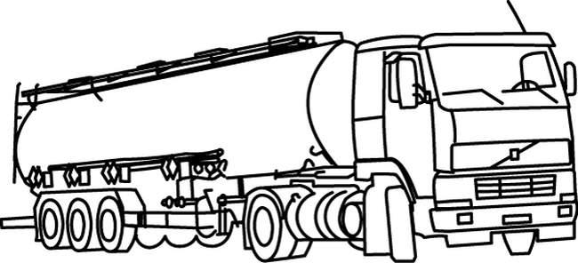 coloriage à dessiner camion semi remorque