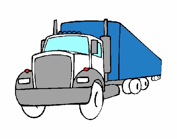 Dessin camion semi remorque - Dessin de camion semi remorque ...