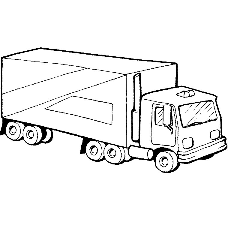 dessin camion semi remorque