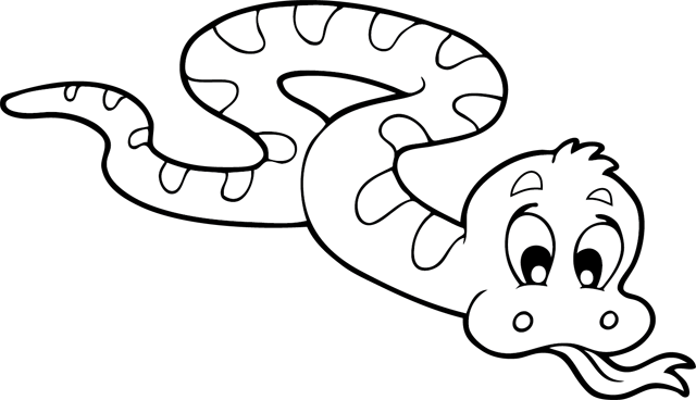 Image coloriage dessiner serpent - Tete de serpent dessin ...