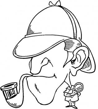 coloriage à dessiner sherlock holmes dessin