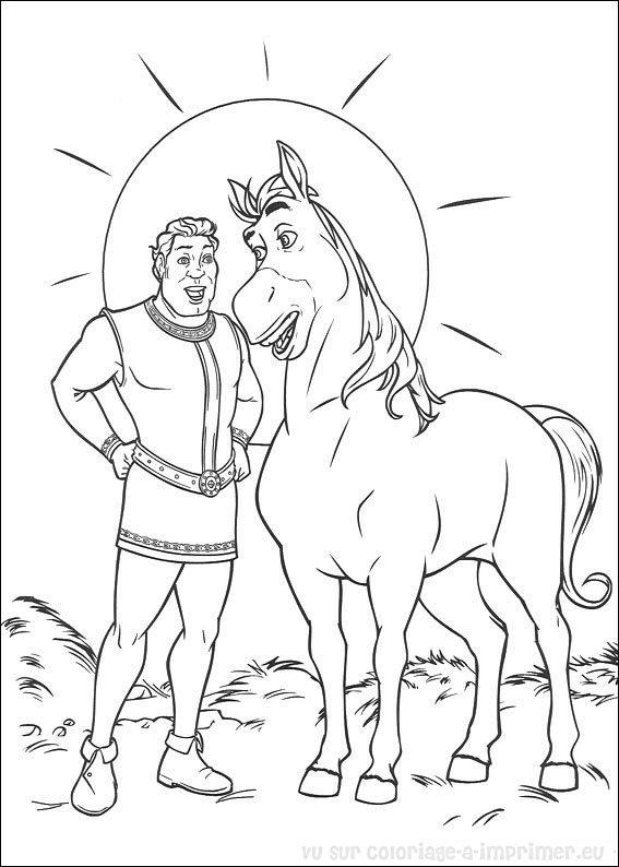 jeux dessin à colorier de shrek