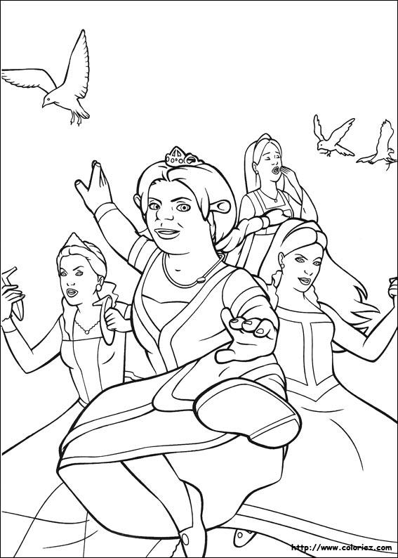 coloriage à dessiner shrek 2 imprimer