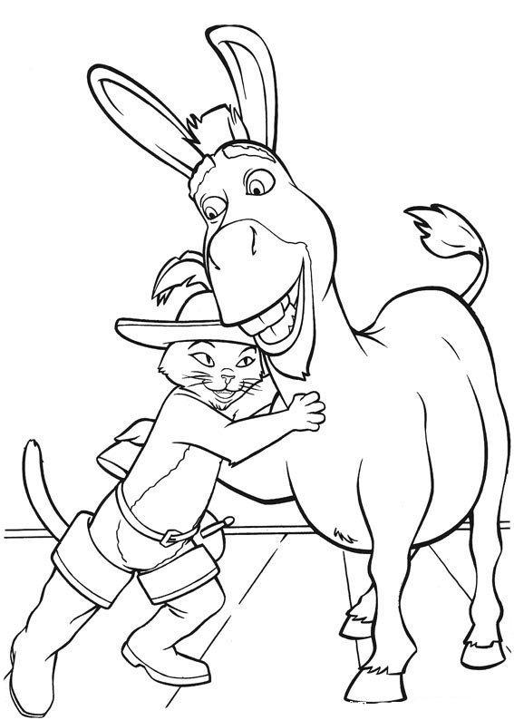 dessin à colorier de shrek 4 a imprimer