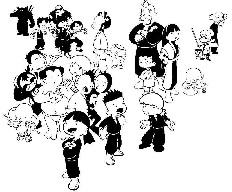 dessin à colorier de shuriken school