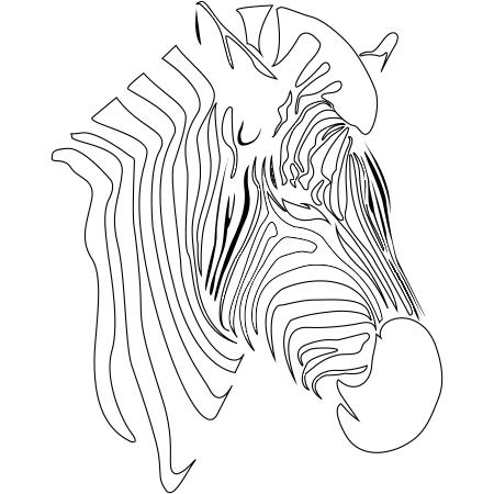 20 dessins de coloriage silhouette z bre imprimer - Zebre coloriage ...
